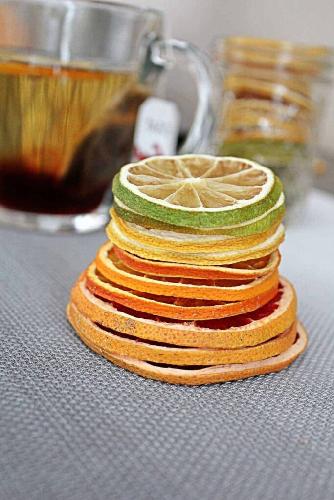 dehydrated fruit tea