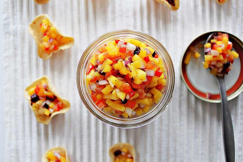 111315 gluten free mango salsa vegan vegetarian
