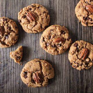 Chocolate Pecan Kamut Cookies